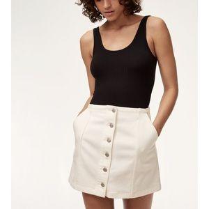 Aritzia Wilfred Free Ahrens White Denim Mini Skirt